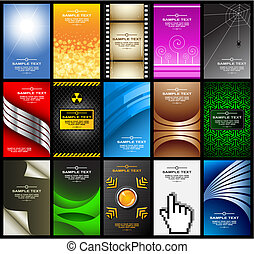 business cards set 10