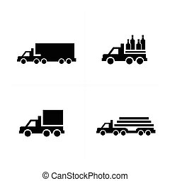 Truck  and Transport Icons