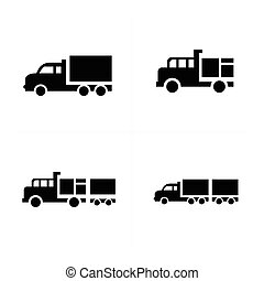 set Truck  and Transport Icons