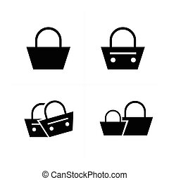 Shopping Bags Set, vector design