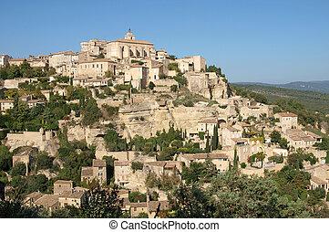 Gordes, hilltop village in Provence - a medieval hilltop...