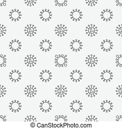 Virus seamless pattern - Virus or bacterium seamless pattern...