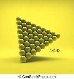 Pyramid of balls 3d vector illustration can be used for...