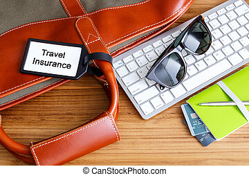 Travel planning with travel insurance tag