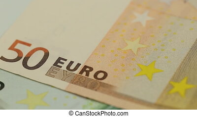 Detail of a fifty Euro bill