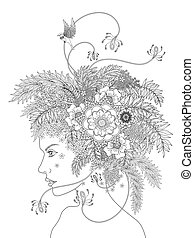 adult coloring page - fashion adult coloring page with a...