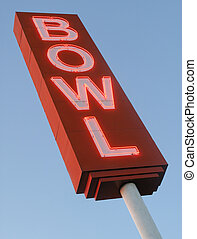 Bowling Alley Sign - Neon Bowling Alley sign viewed from...