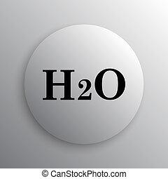 H2O icon. Internet button on white background.