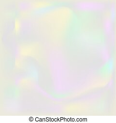 Holographic pearl background. Iridescent hologram backdrop....