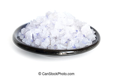 Blue Persian salt Isolated on white background