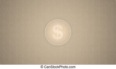 Money Sign - Money sign inside a circle trasitions in from a...