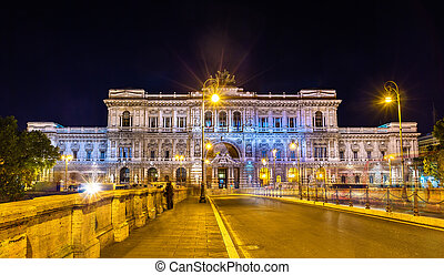 Palace of Justice in Rome at night - The Palace of Justice...