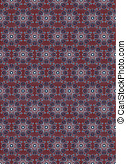 Bordo background with blue pattern - Vintage maroon seamless...