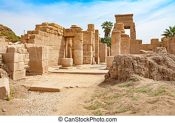 Temple of Karnak. Luxor, Egypt - Ruins of Karnak Temple in...