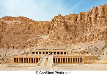 Templo, de, Hatshepsut., Luxor, Egito,