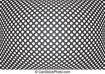 Abstract convex background. Vector art.
