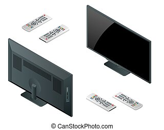 TV flat screen lcd, plasma realistic vector illustration, tv...