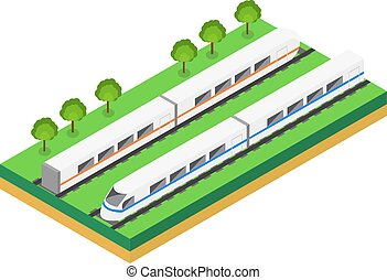Fast Train Vector isometric illustration of a Fast Train...