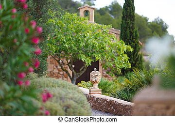 In a spanish garden - Architectural detail of tradition...