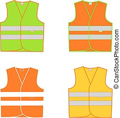 vest signal in vector on white background
