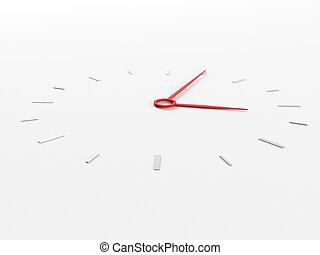 Clock - a 3d clock on a white background