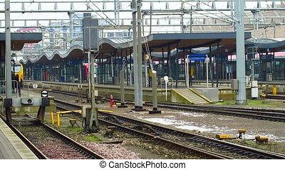 Luxembourg train station platforms. - Luxembourg City,...