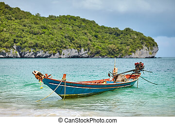 boat at tropical beach, Thailand