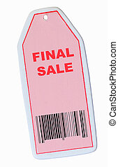 final sale tag with barcode