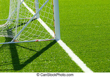 Goal Detail - Detail from soccer/football pitch, goal on...