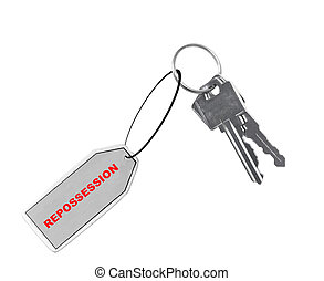 repossessed car or house - car or house keys with fob or tag...