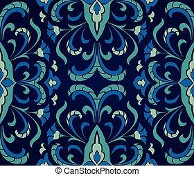 Floral blue ornament.
