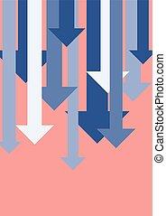 Graph down arrows