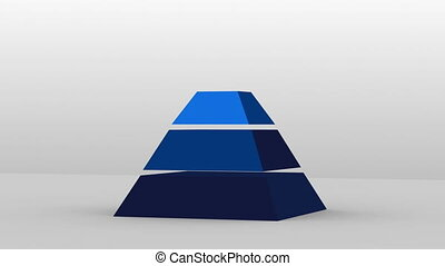 3D Pyramid shape with four layers - 3D Pyramid shape with...