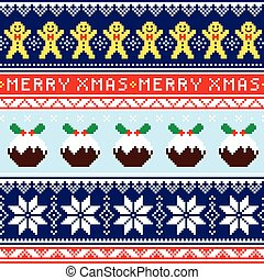 Christmas jumper or sweater seamles - Winter, Xmas pattern...