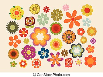 Vintage Flowers part 2 - Vector illustration of the flowers...