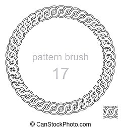 ancient  pattern curls decor vector illustration