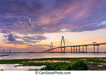 Ravenel Bridge in Charleston - Charleston, South Carolina,...
