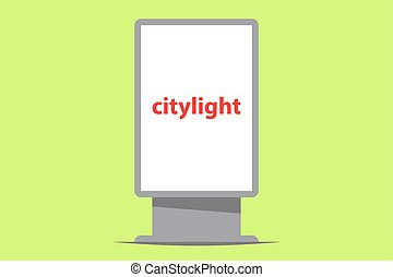 citylight outdoor advertising vector illustration