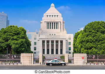 The Japanese Parliament Building - TOKYO, JAPAN - JULY 31...