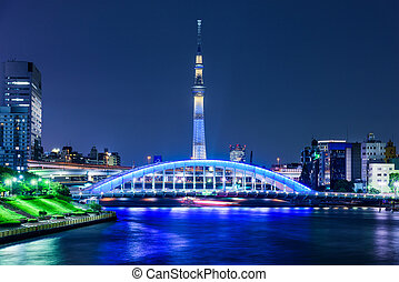 Skytree Skyline in Tokyo - Tokyo, Japan skyline on the...