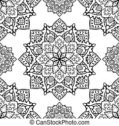 Folk, vector ornament. - Traditional, folk, vector ornament....