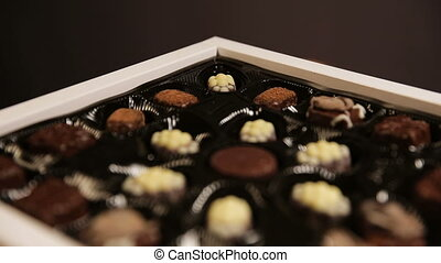 Chocolate candies collection.