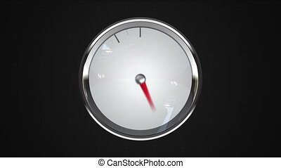Indicated ten o'clock point. gauge or watch animation.