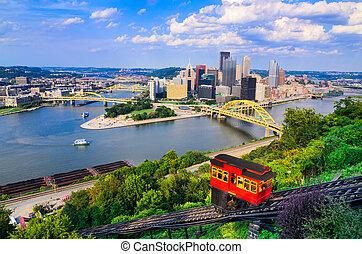 Pittsburgh Pennsylvania Skyline - Pittsburgh, Pennsylvania,...