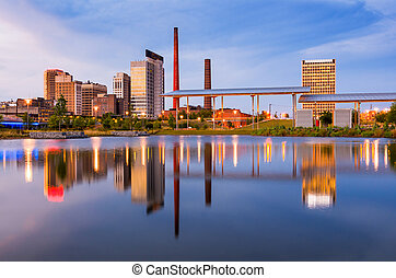 Birmingham Alabama Skyline - Birmingham, Alabama, USA city...