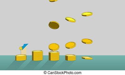 Pile up Golden coins growthprofits1 - Pile up Golden coins...