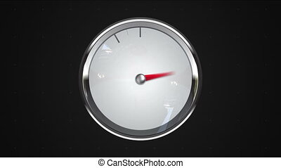 Indicated 7 oclock point gauge or watch animation