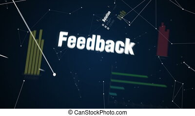 Text animation COMMUNICATION - Solution, Feedback,...