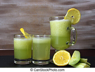 Cucumber and lemon juice. - Healthy Cucumber and lemon juice...