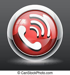 3D Phone icon button